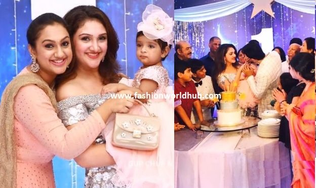 Sridevi vijaykumar and rahul daughter Rupika 1st Birthday photos!
