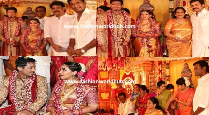 Actor Vishal sister Aishwarya & kritheesh wedding photos!