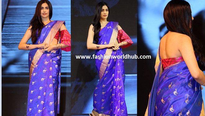 Adah Sharma in Sailesh Singhania blue saree
