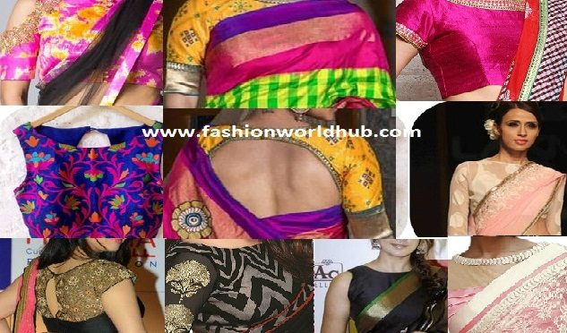 Top 7 Boat neck saree blouse designs