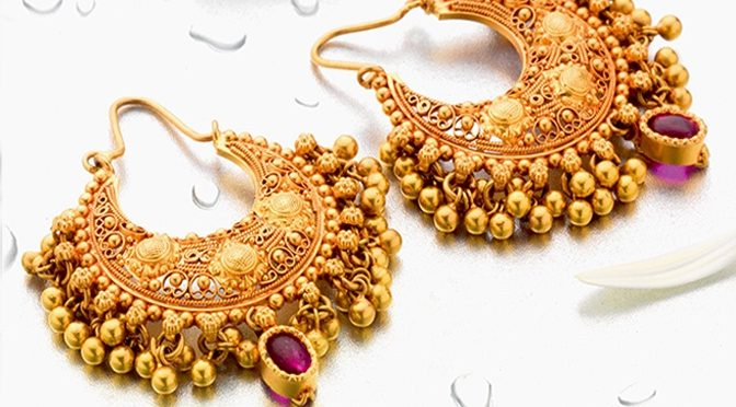 Beautiful ear rings collections from  P.N Gadgil & Sons