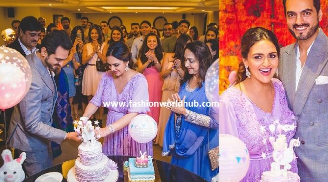 Actress Hema malini daughter Esha Deol baby shower photos!