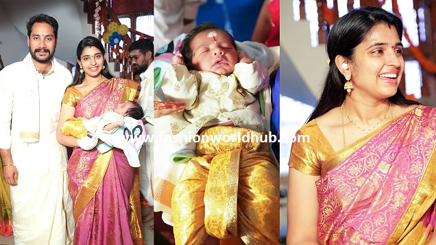 Anchor Syamala Son Naming Ceremony Photos and named their baby name as …