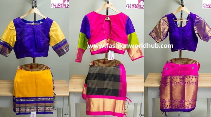 Traditional silk sarees and blouses by Vibha