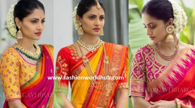 Kanjeevaram Saree collections from Bhargavi Kunam Sutdio.