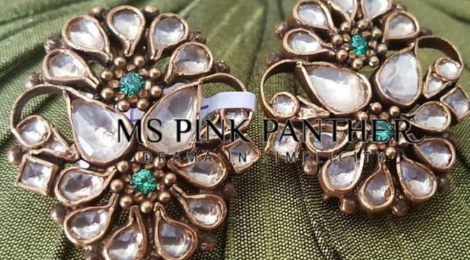 Beautiful Kundan ear rings from MS PINK PANTHER