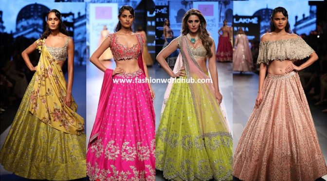 Eye catching collections of Anushree reddy at Lakme fashion week 2017