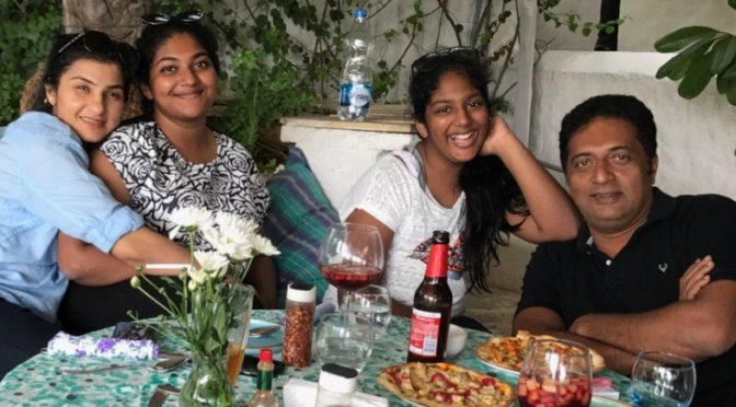 Actor prakash Raj celebrates Friendship day with his daughter!
