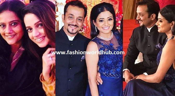 Actress Priyamani and mustafa Raj Wedding reception photos!
