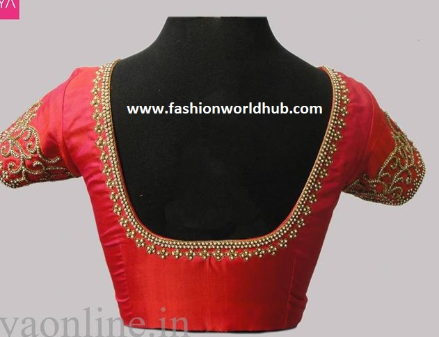 Beautiful Embroidery Work Blouse Designs Fashionworldhub