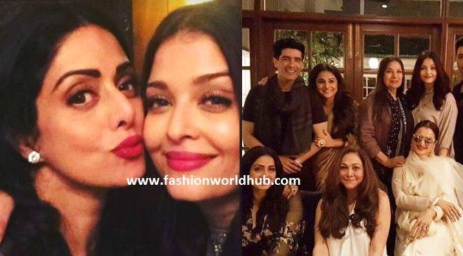 Sridevi kapoor 54th birthday bush Aishwarya, Rani, Rekha Attend Party Hosted By Manish Malhotra.
