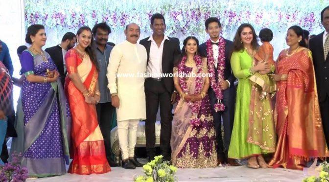 Celebrities at Actor vishal sister wedding Reception!