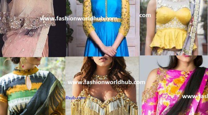 2017 Latest Saree blouse design patterns