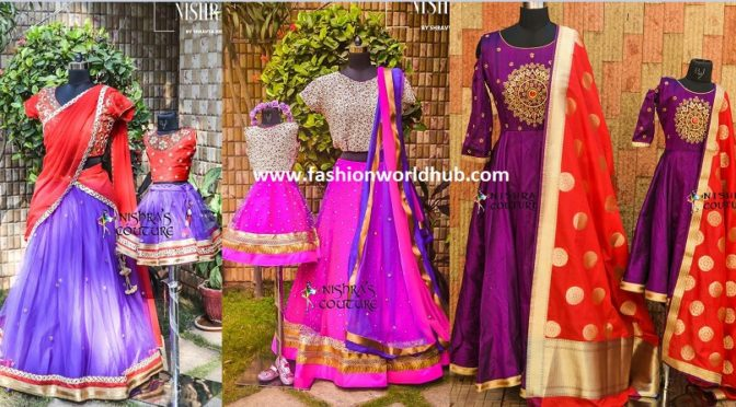 Mom and daughter Matching outfits by Nishras Designer Studio