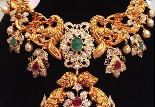 emerald earring uncut k diamonds fancy raj diamond gold jewels s necklace vrisha