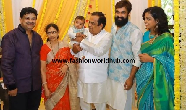Comedy king Brahmanandam grand son naming ceremony photos!
