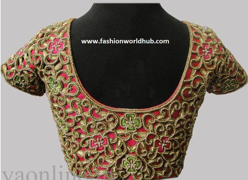 Cut work embroidery blouse designs | Fashionworldhub