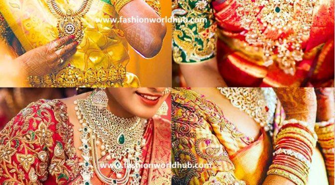 Heavy bridal work blouse designs