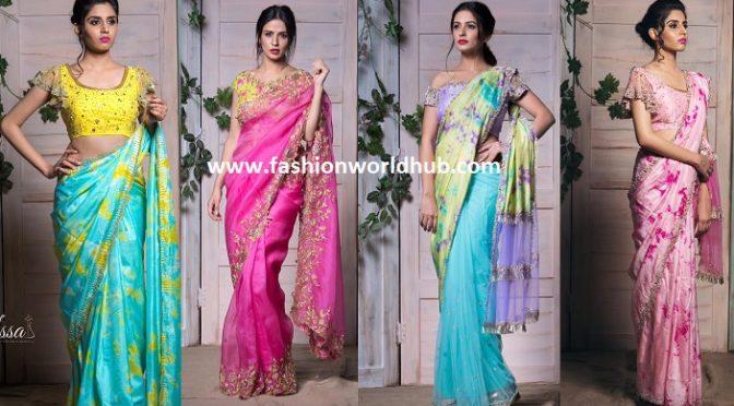 Latest designer sarees by ISSAA Studio