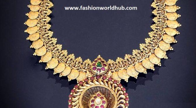 Kundan lakshmi kasu necklace