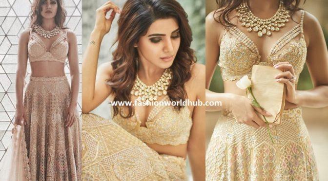 Samantha ruth prabhu in Love story lehenga by KOECSH