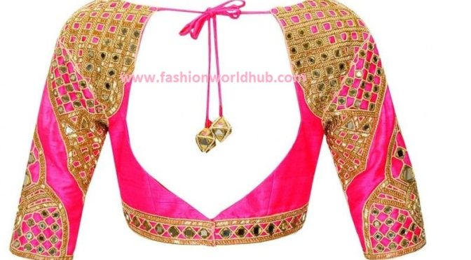 Gorgeous mirror work blouses
