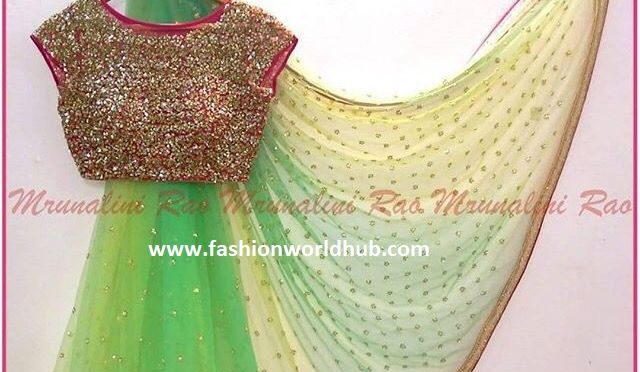 Mrunalini Rao Latest designer Saree collections!