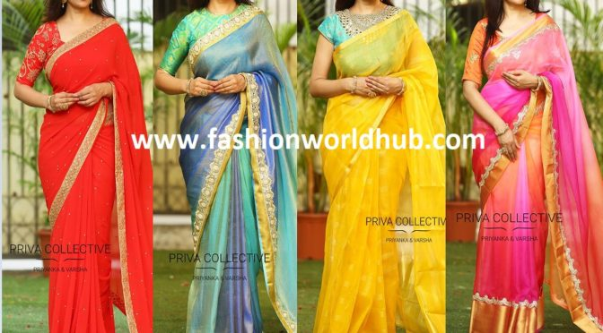 Latest designer sarees for this festive season from Priva Boutique