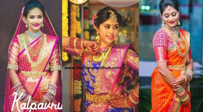 Gorgeous Bridal Kanjeevaram sarees by Kalpavruksh