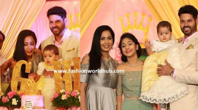 Actress Vidya Rao Daughter's 1st Birthday celebration photos