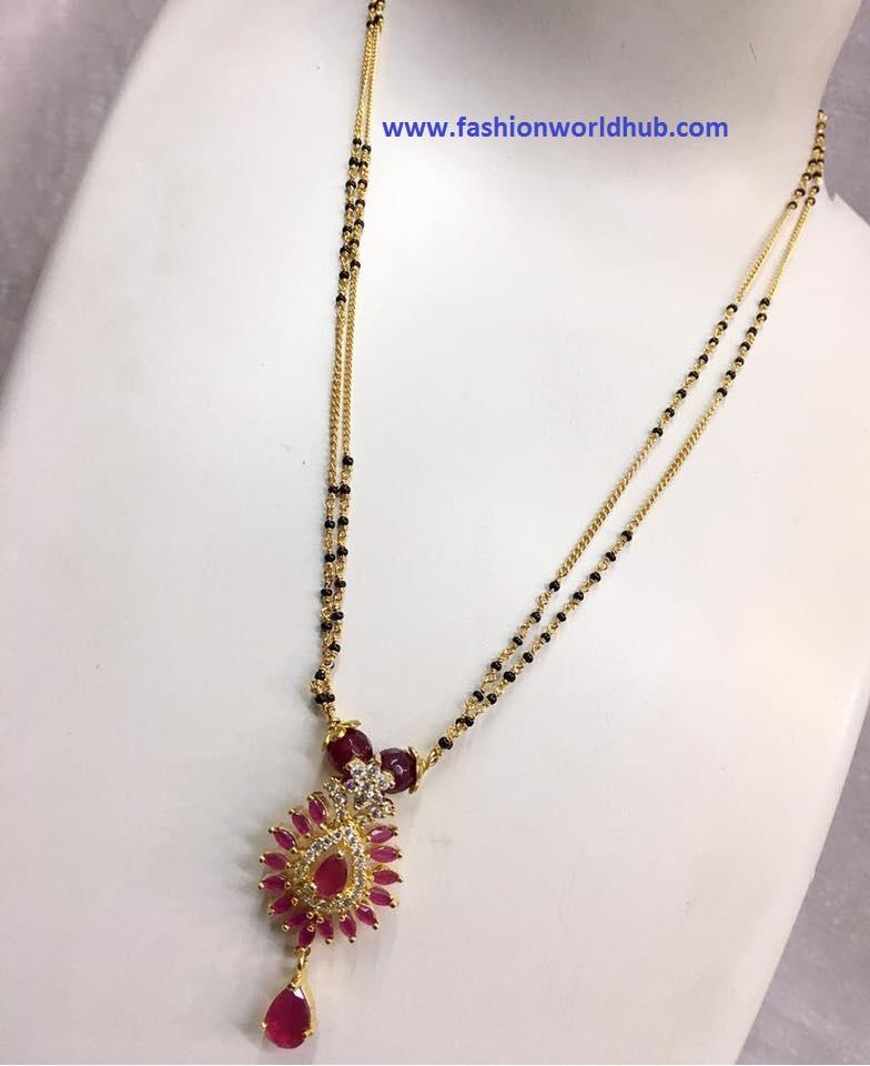 1 Gram Beads: Designer One Gram Gold Black Bead Chains