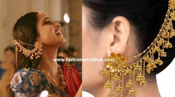 Gold plated Bahubali ear rings