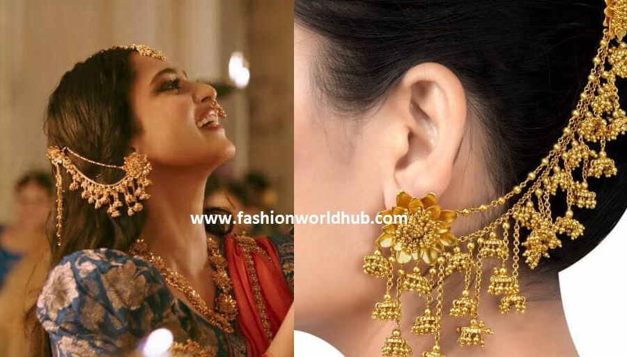 Pearl Jewellery Necklace >> Gold plated Bahubali ear rings | Fashionworldhub