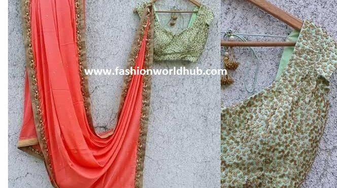 Latest designer sarees and Blouses by Akruthi Designer studio.