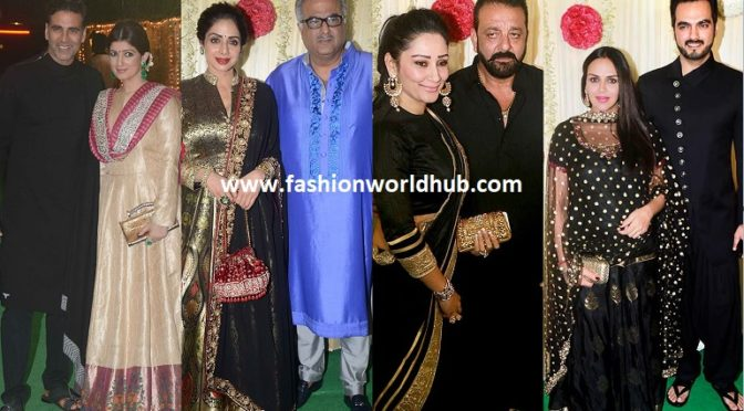 Celebrities at Ekta kapoor Diwali bash celebrations .