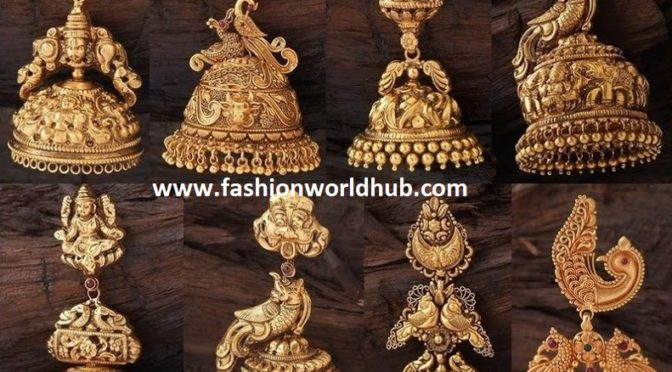 Traditional gold Jumkha designs