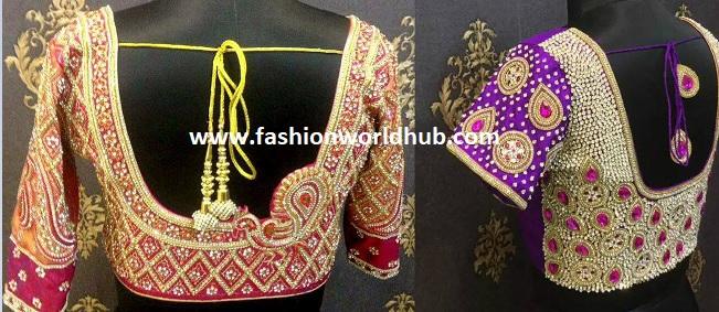 Latest Maggam work blouse designs
