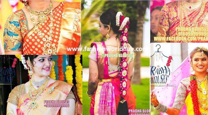 Bridal maggam work blouses by Prabha Ponnala
