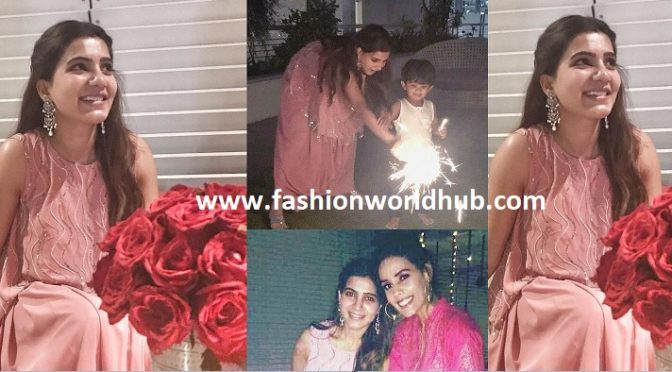 Samantha Akkineni first diwali look after marriage.