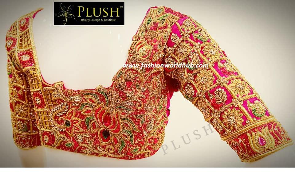 Heavy Bridal Maggam Work Blouse Fashionworldhub