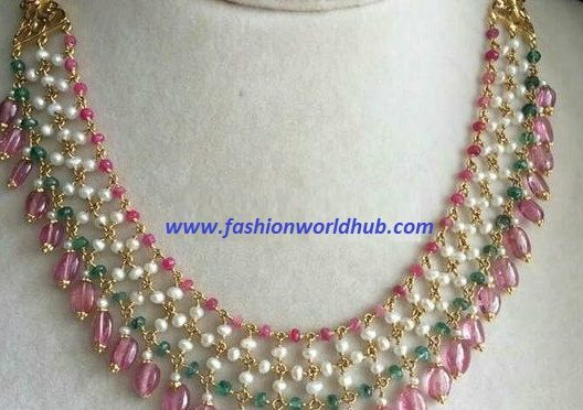 Light weight bead necklace