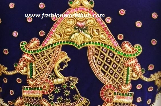 Bride in Pallaki blouse design