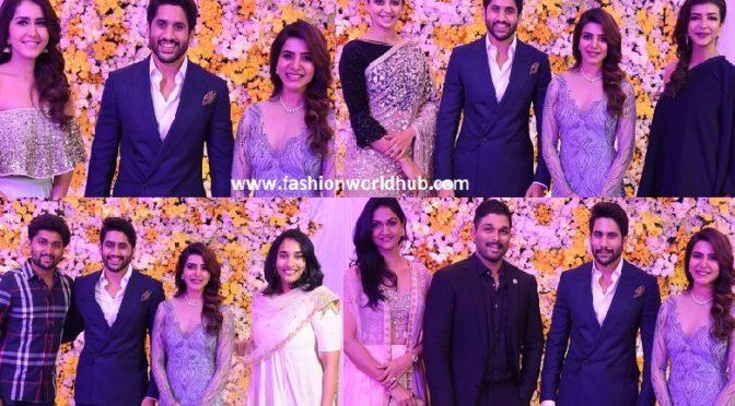 Celebrities at Samantha and Nagachaitanya Wedding reception.