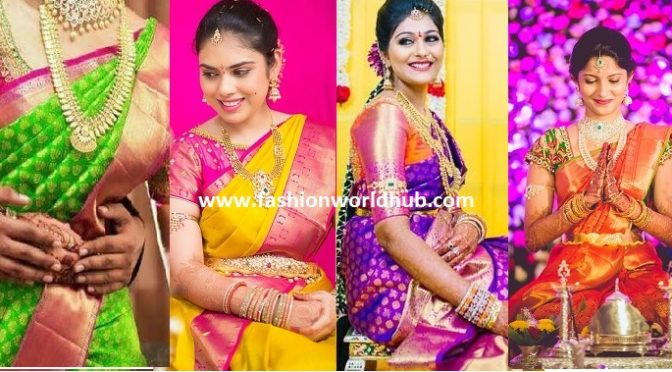 10 Interesting Pattu Saree Colour Combinations
