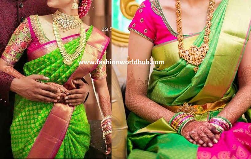 Green And Pink Combination Since Olden Days These Colour Is Rocking That Trend Still Continuing If You Don T Have This