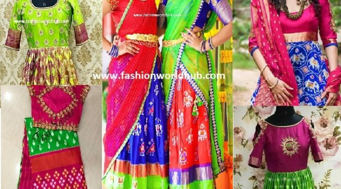 Trending Ikkat pattu Outfits to flaunt in Wedding & Parties.