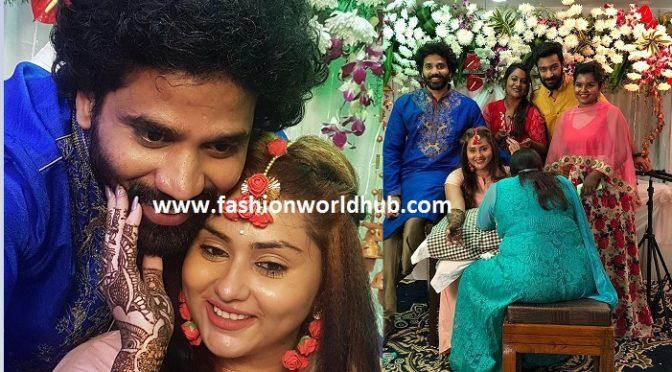 Actress Namitha Mehendi ceremony function photos!