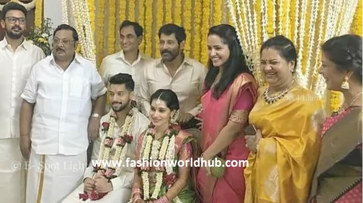 Actor Vikram S Daughter Akshita Wedding Photos