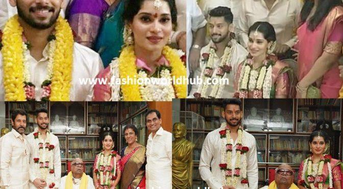 Actor Vikram's Daughter Akshita Wedding photos.