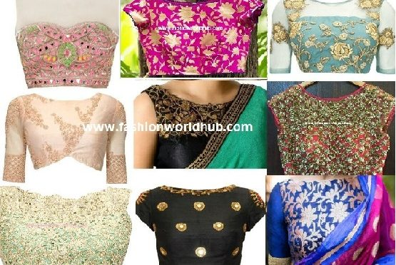 Trending Boat neck blouse designs